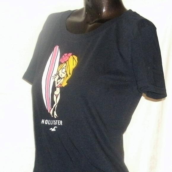 51c691ab72 #102 Dark Blue Surfer Girl Hollister Tee Shirt